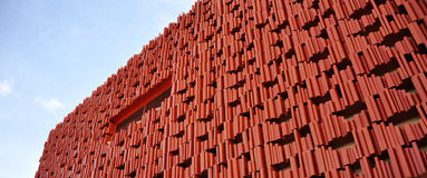 Building red abstract Stock Images