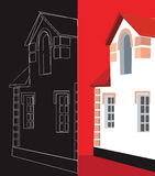 Building in red and black Stock Photography