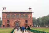 Building in The Red Fort in Delhi India Stock Image
