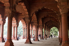 Building in The Red Fort in Delhi India Stock Photography