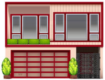 A building with red frames Royalty Free Stock Photos
