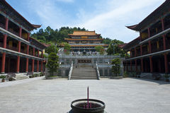 Building in Red Snail Temple Stock Photography