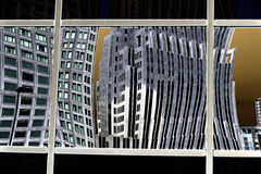 Building reflection on. Abstract image of building reflection on Stock Photo