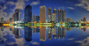Building reflection Stock Image