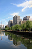 Building reflection in imperial palace. Tokyo Royalty Free Stock Photography