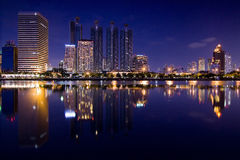 Building reflection in Thailand Royalty Free Stock Image