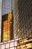 Building Reflections. Downtown office towers reflected in glass building Royalty Free Stock Image
