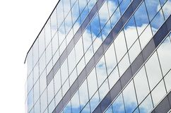 Building reflections. Sky in building stock photo