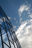 Building reflects the sky. Building from blue glass reflects the sky Royalty Free Stock Photo