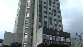 The building of the regional government of Varna, Bulgaria stock footage
