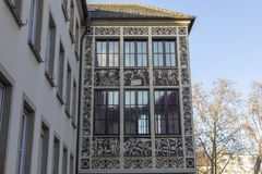 Building of Registry Office - wedding Palace in Fankenthal pfalz Germany stock image