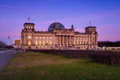 Building of Reichstag (Bundestag), Berlin Royalty Free Stock Photos