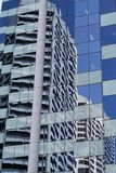 Building relections. On Market street Royalty Free Stock Image
