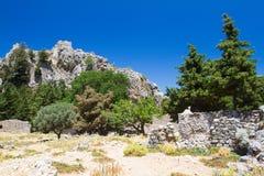 Building remains on Dikeos, Kos, Greece. Royalty Free Stock Photo