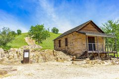 Building Remains and Mill Post Sign at Knights Ferry royalty free stock photography