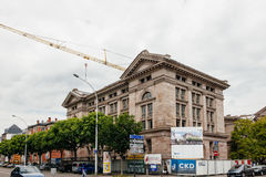 Building renovation process of Archives Departamentales to Real Stock Photo