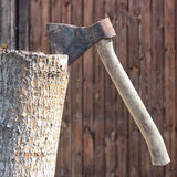 Building and repair. Axe Royalty Free Stock Image