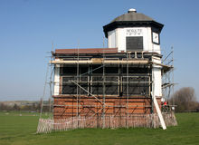 Building Repair Pontefract Racecourse Stock Image