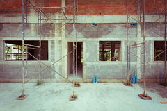 Building residential construction house Royalty Free Stock Image