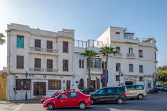 Building of Ricks Cafe from Casaclanca movie - Casablanca,Morocco. CASABLANCA, MOROCCO - MARCH 31,2017 - View at the building of Ricks Cafe from Casaclanca movie Stock Photo