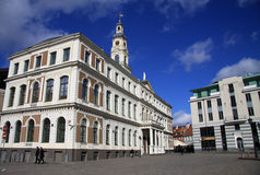 Building of Riga City Council at the Town Hall Square Stock Photo