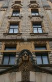 Building in Riga. Fassade in the old center of Riga Stock Photography