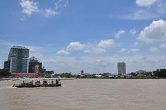Building riverside Chao Phya Royalty Free Stock Image