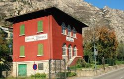 The building roadhouse. Limone sul Garda, Italy, 2 November 2015, The building roadhouse stock photos