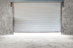 Building with roller shutter door Stock Photos
