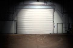 Building with roller shutter door Royalty Free Stock Photo