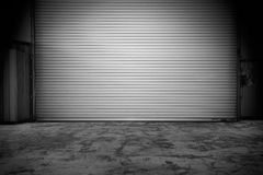 Building with roller shutter door Stock Images