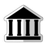 Building roman columns icon Stock Photography