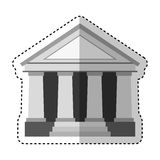 Building roman columns icon Stock Images