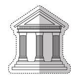 Building roman columns icon royalty free illustration