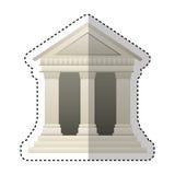 Building roman columns icon stock illustration
