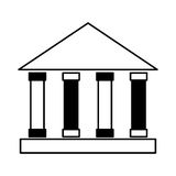 Building roman columns icon Royalty Free Stock Photography