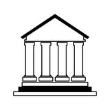 Building roman columns icon Stock Photos