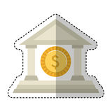 Building roman columns icon Royalty Free Stock Image