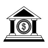Building roman columns icon vector illustration