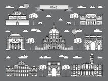 The building of Rome Royalty Free Stock Photo