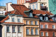 Building and the roof in the center of Warsaw Stock Photography