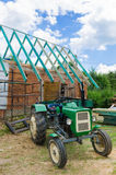 Building a roof in the countryside Stock Photos