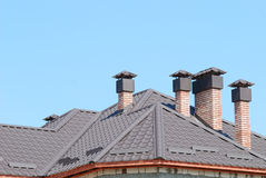 Building of a roof for house Royalty Free Stock Photos