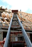 Building a roof truss Royalty Free Stock Photography