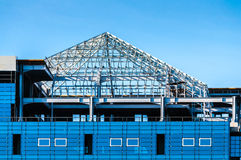 Building roof unfinished Royalty Free Stock Image