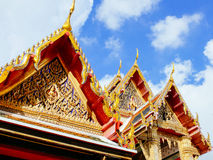 Building with roof at Wat Ratchabopit Royalty Free Stock Image