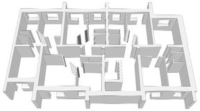 Building room plan on white Royalty Free Stock Image