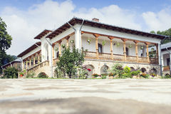 Building with rooms in Varatec Monastery, Moldavia, Romania Royalty Free Stock Image