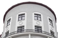 Building with Rounded Facade and Balustrade Stock Photography