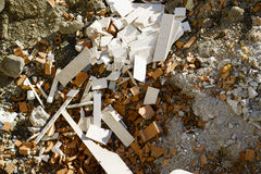 Building rubble. Building or construction rubble, outdoor Royalty Free Stock Photos